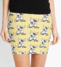 Funny Bull Terrier Comic - Dog - Dogs - Cartoon - Funny - Gift Mini Skirt