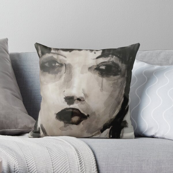 The portrait of a girl Throw Pillow