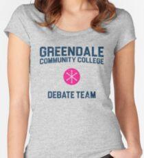 Greendale Community College Debate Team Women's Fitted Scoop T-Shirt