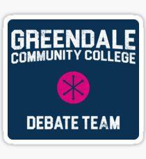 Greendale Community College Debate Team Sticker