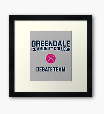 Greendale Community College Debate Team Framed Print