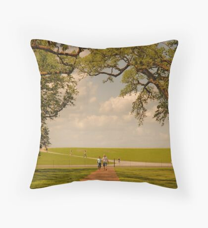 Oak Alley Plantation Throw Pillow