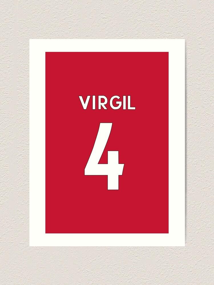 Liverpool Inspired Football Art Print Fan Gift Virgil van Dijk