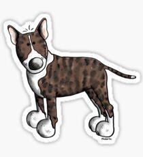 Funny Bully - Bullterrier - Bull Terrier - Dog - Dogs - Gift - Comic Sticker