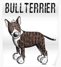 Cute Bull Terrier Comic - Bullterrier - Dog - Dogs - Gift Poster