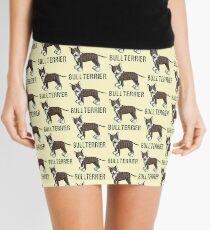 Cute Bull Terrier Comic - Bullterrier - Dog - Dogs - Gift Mini Skirt