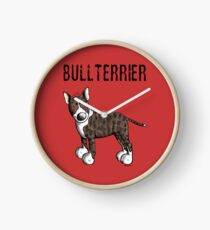 Cute Bull Terrier Comic - Bullterrier - Dog - Dogs - Gift Clock