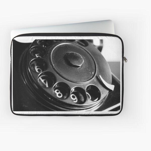 Black vintage phone Laptop Sleeve