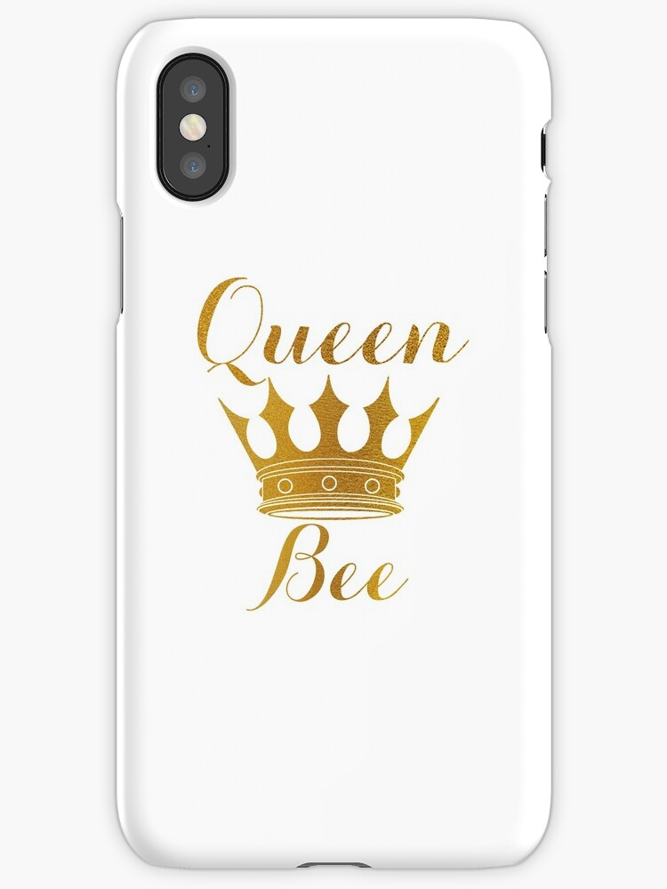 Gold Queen Bee And Crown Iphone Cases Covers By Podartist Redbubble
