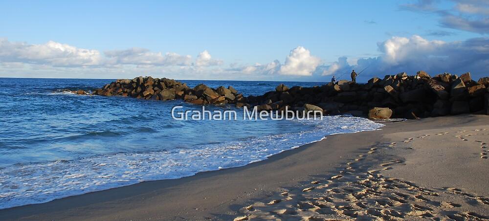 Rock Fishing by Graham Mewburn