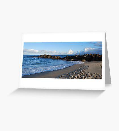 Rock Fishing Greeting Card