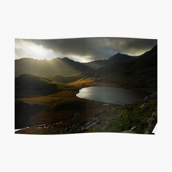 Sunrays, Snowdonia National Park Poster