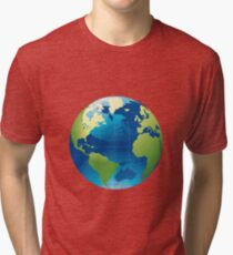 Cartography Chromatic Continents  Tri-blend T-Shirt