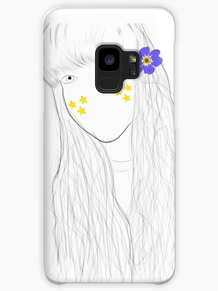 Tumblr Flower Star Mädchen Zeichnung Hüllen Skins Für Samsung