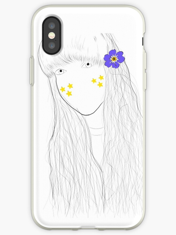 Tumblr Flower Star Girl Drawing Iphone Cases Covers By