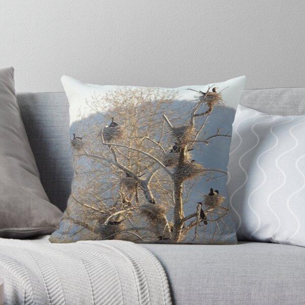 Cormorant Condos Throw Pillow