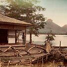 Haruna Lake tea house by Fletchsan