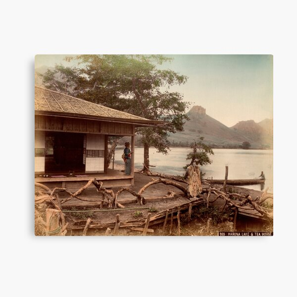 Haruna Lake tea house Canvas Print