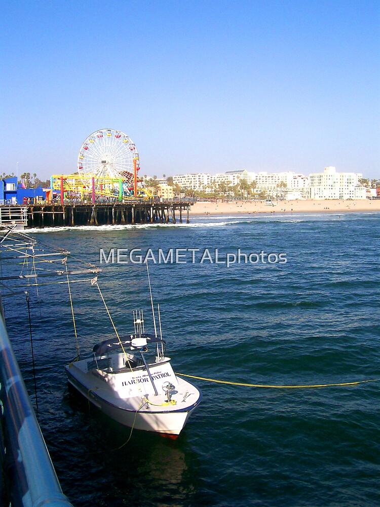 santa monica pier by MEGAMETALphotos
