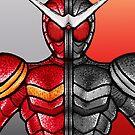 Kamen Rider Double Heat/Metal by jellysoupstudio