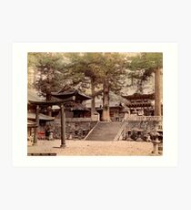 Bronze portal, Nikko Art Print