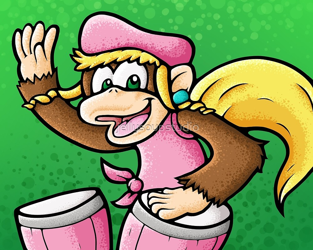 Dixie Kong by jellysoupstudio