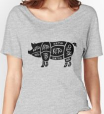 Keto Butcher Diagram — Pig Women's Relaxed Fit T-Shirt