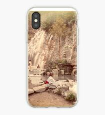Tamadare waterfall at Yumoto, Japan iPhone Case