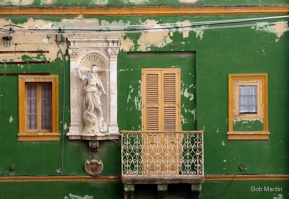 Green wall by Bob Martin