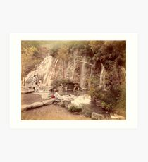 Tamadare waterfall at Yumoto, Japan Art Print
