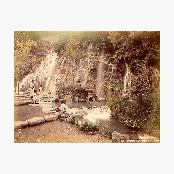 Tamadare waterfall at Yumoto, Japan Photographic Print