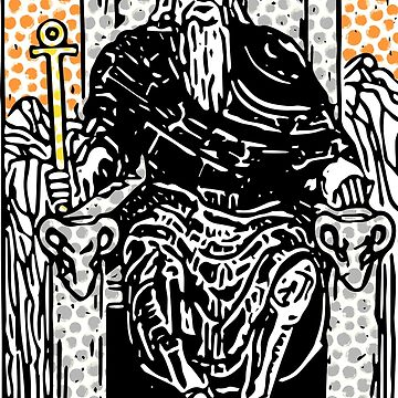 Modern Tarot Design - 4 The Emperor by annaleebeer