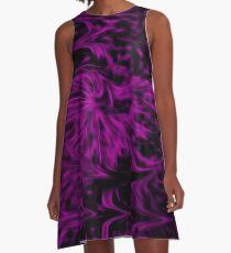 Purple Fire A-Line Dress