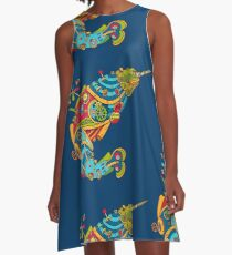 Narwhal, cool art from the AlphaPod Collection A-Line Dress