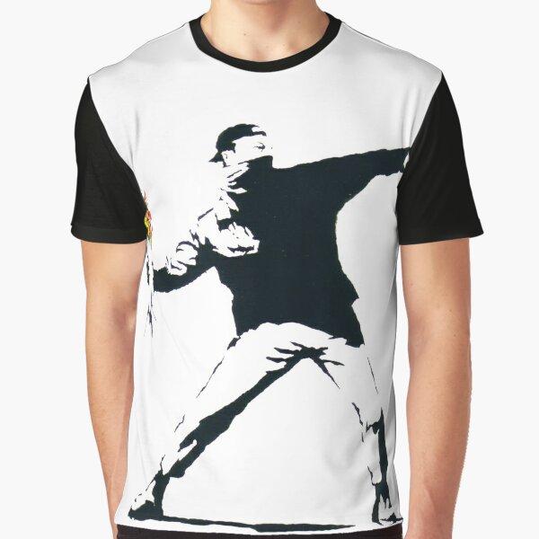 Banksy - Flower Thrower Graphic T-Shirt