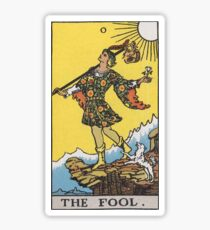 Tarot card - The Fool Sticker