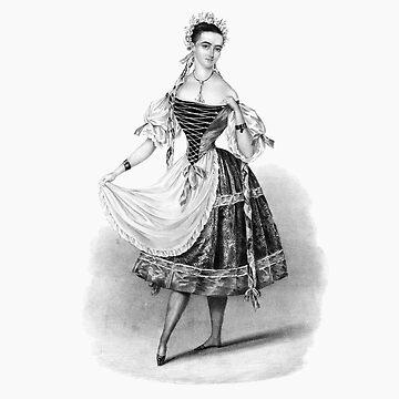 Female Ballet Dancer Vintage Print by VintageArchive