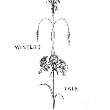 Winter's Tale Shakespeare Victorian Illustration Flowers Vine by HarperDrewArt