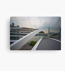 Roof detail of The Shoppes, Marina Bay Sands, Singapore Canvas Print