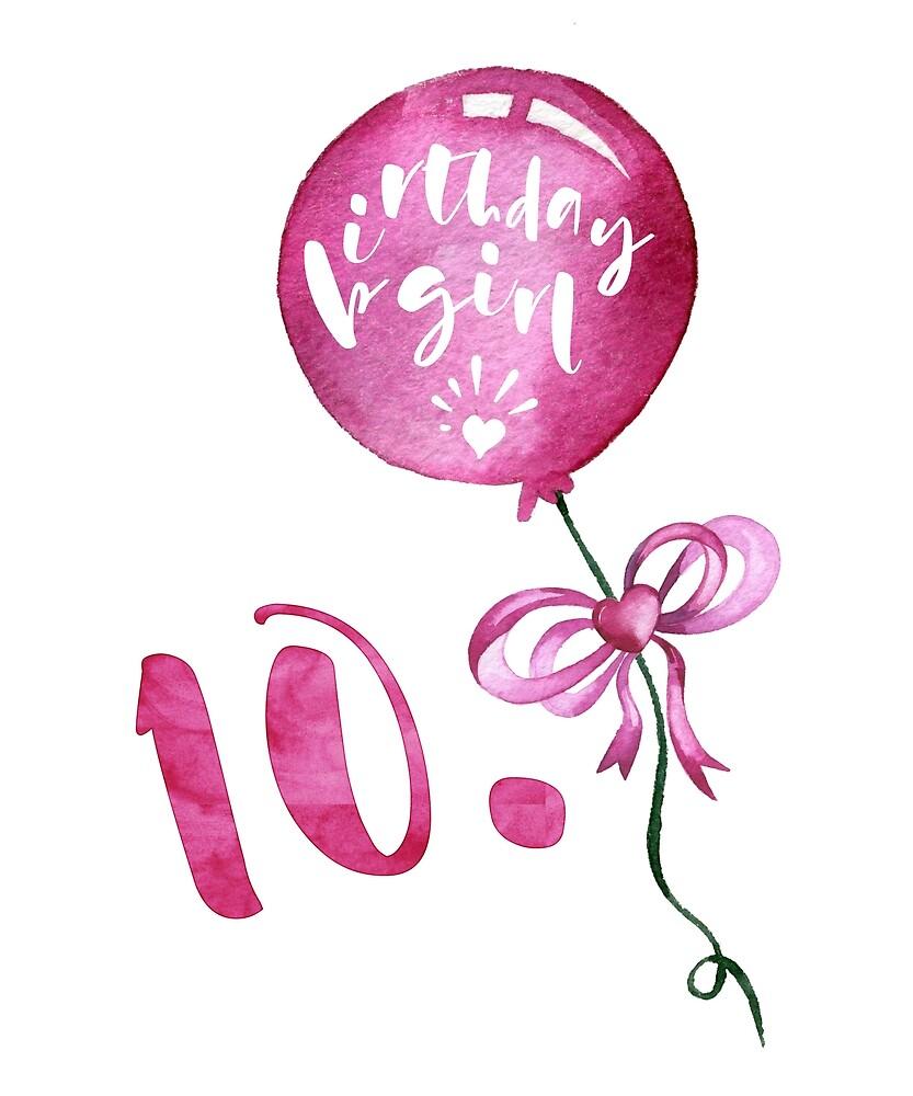 10th Birthday Girl Anniversary Girls Gifts Geburtstagsgeschenke Fur Madchen 10 Geburtstag Von