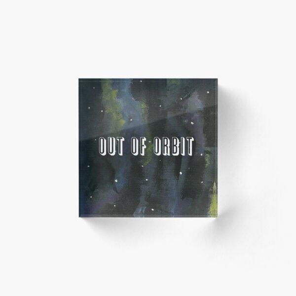 Out of Orbit Acrylic Block