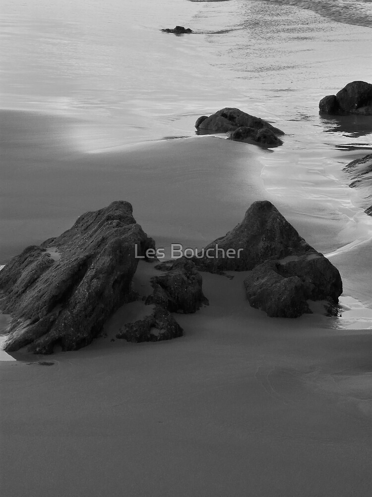 Islands in the Sand. B&W by Les Boucher