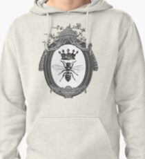 Queen Bee | Black, White and Grey  Pullover Hoodie