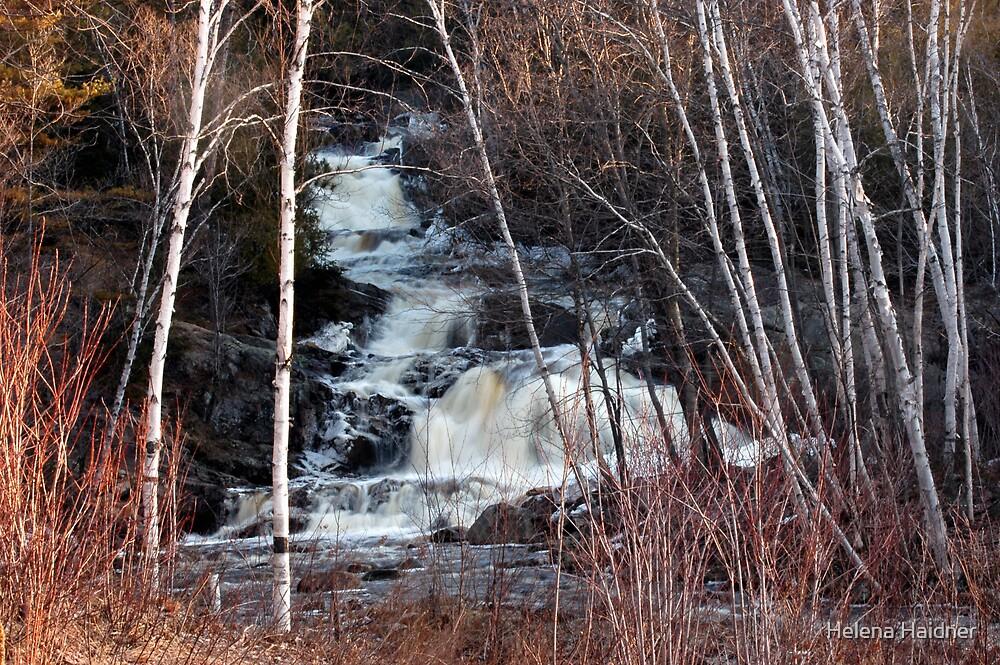 East Duchesnay Falls, North Bay, Ontario by Helena Haidner