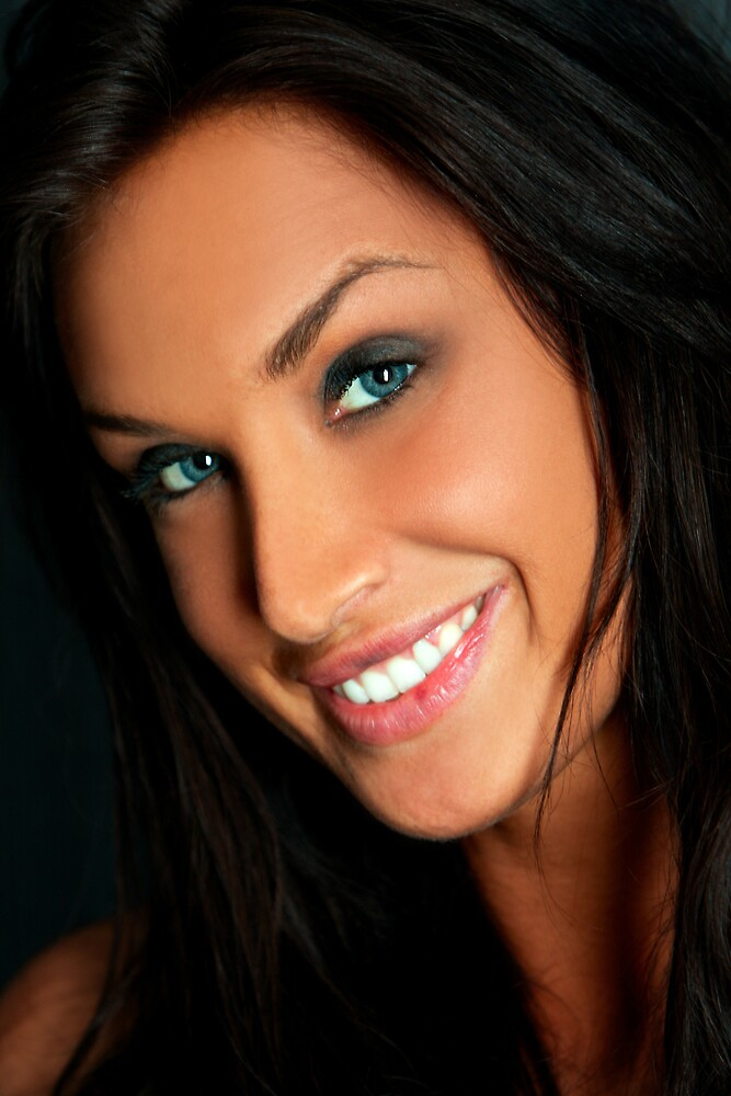 Blue Eyes Smiling by Swede