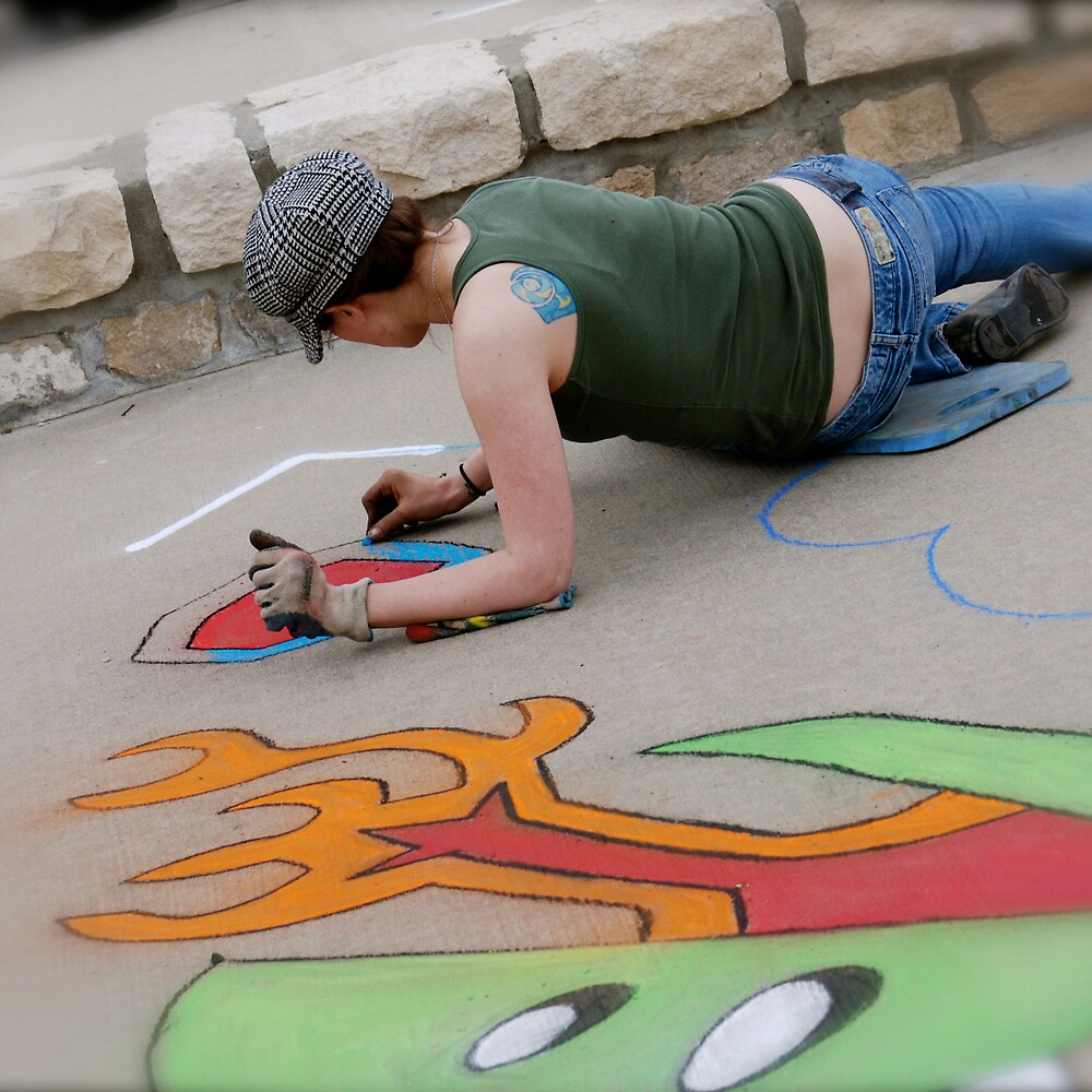 Chalk Walk by Robert Baker