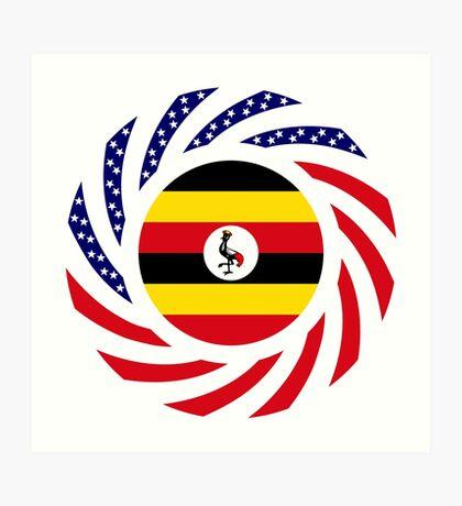 Ugandan American Multinational Patriot Flag Series Art Print