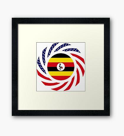 Ugandan American Multinational Patriot Flag Series Framed Print