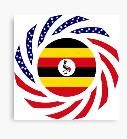 Ugandan American Multinational Patriot Flag Series Canvas Print