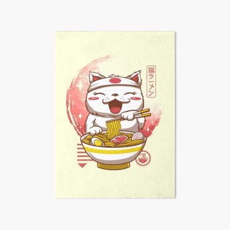 Neko Ramen Art Board Print
